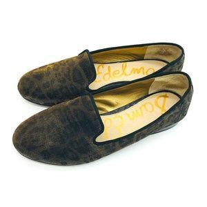 Sam Edelman Hurlie Smoking Leopard Loafers 7.5